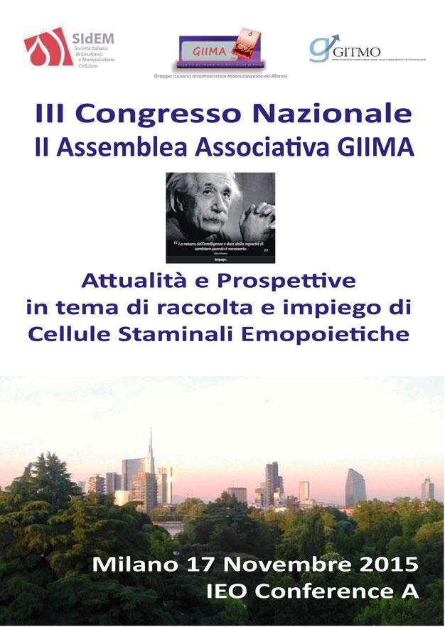 III CONGRESSO NAZIONALE - II ASSEMBLEA ASSOCIATIVA GIIMA