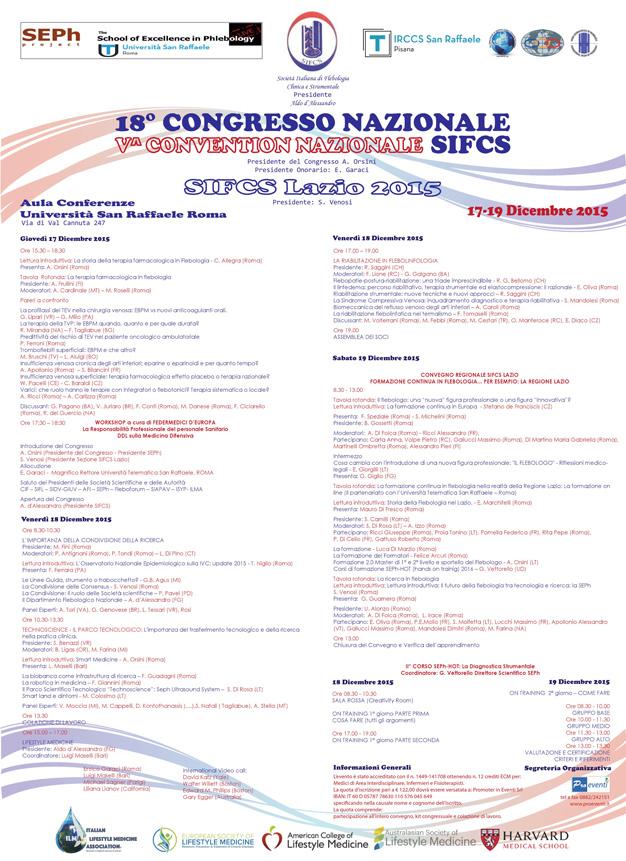 18° CONGRESSO NAZIONALE SIFCS