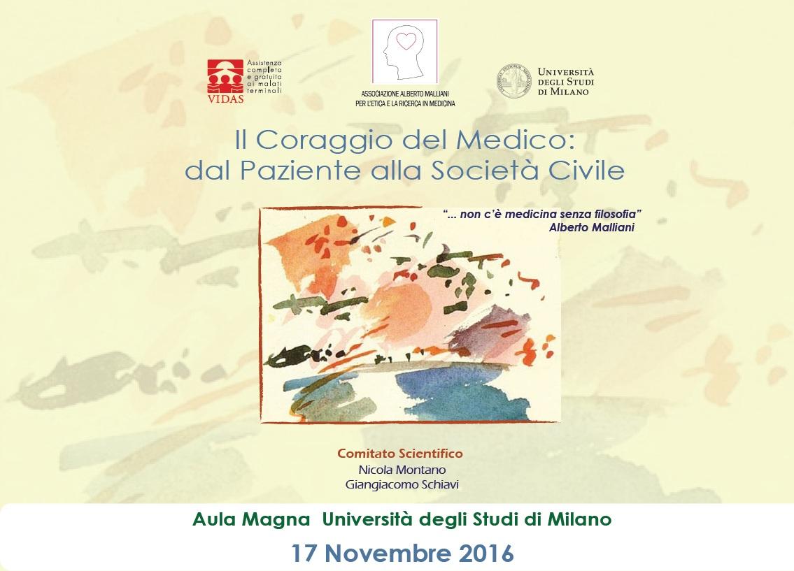 IL CORAGGIO DEL MEDICO: DAL PAZIENTE ALLA SOCIETA' CIVILE