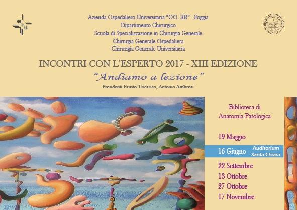 INCONTRI CON L'ESPERTO. XIII EDIZIONE