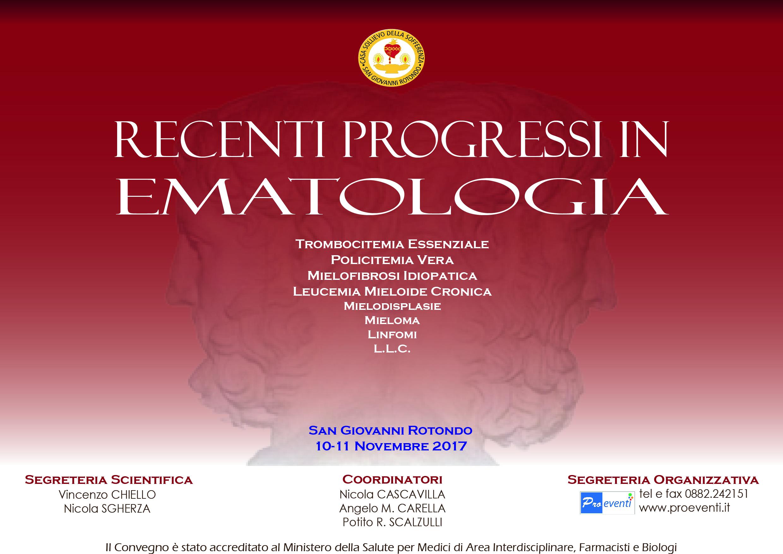 RECENTI PROGRESSI IN EMATOLOGIA