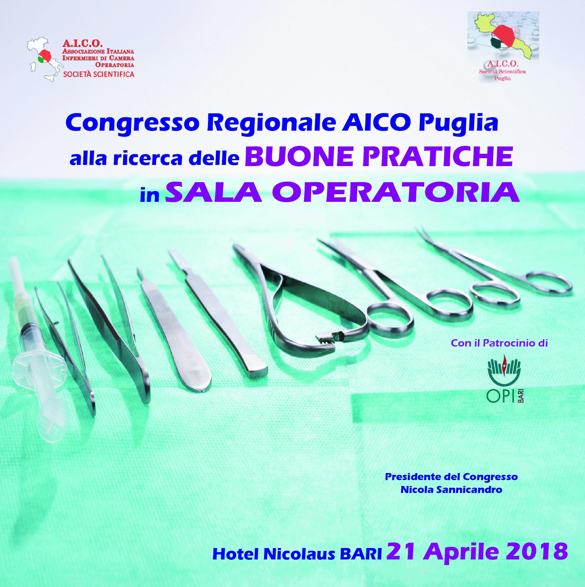 CONGRESSO REGIONALE AICO PUGLIA. ALLA RICERCA DELLE BUONE PRATICHE IN SALA OPERATORIA