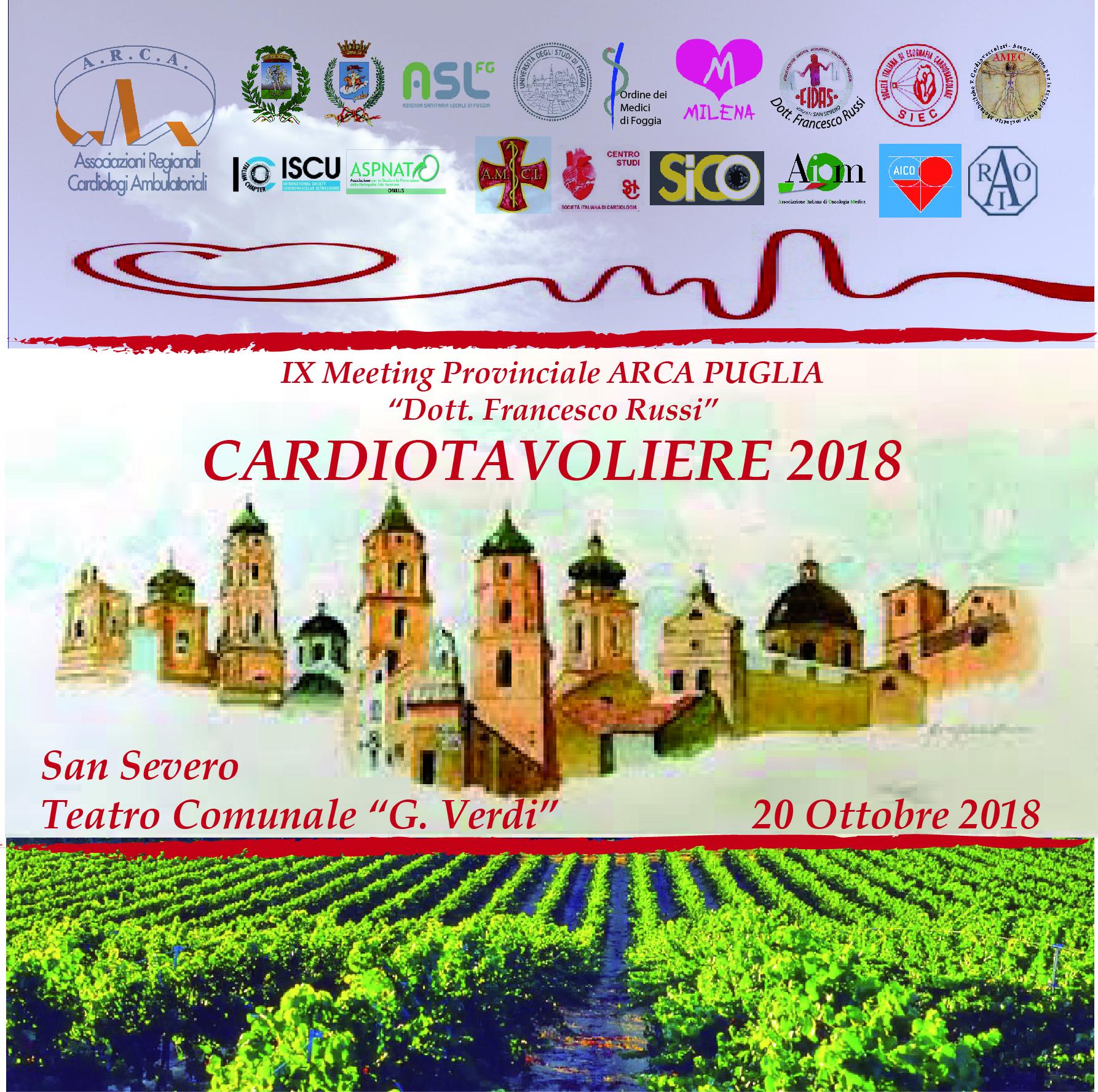 IX MEETING PROVINCIALE ARCA PUGLIA - CARDIOTAVOLIERE 2018