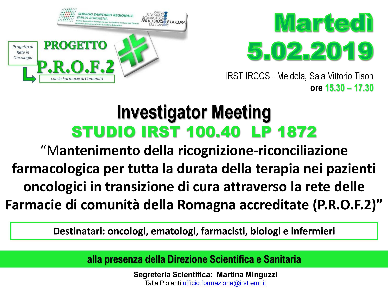 INVESTIGATOR MEETING IRST 5 FEB