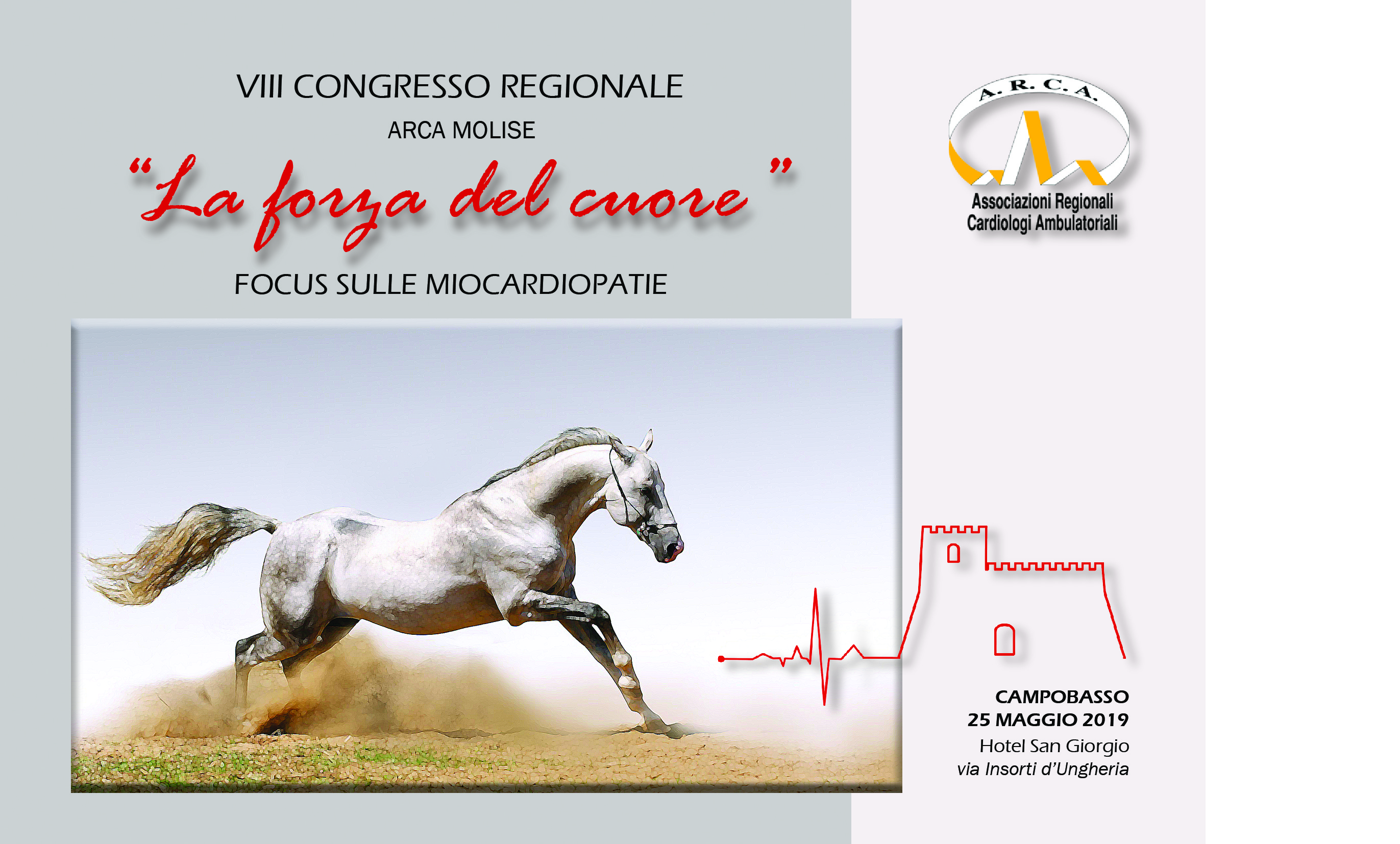 VIII CONGRESSO REGIONALE ARCA MOLISE. LA FORZA DEL CUORE. FOCUS SULLE MIOCARDIOPATIE