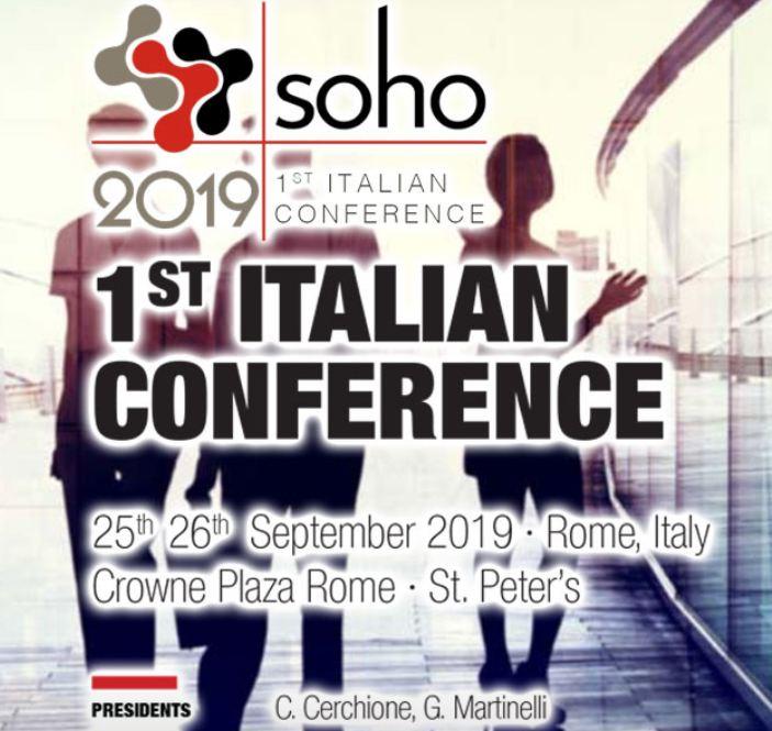 MD Anderson - SOHO - 1st ITALIAN CONFERENCE, Roma 25 - 26 Settembre 2019