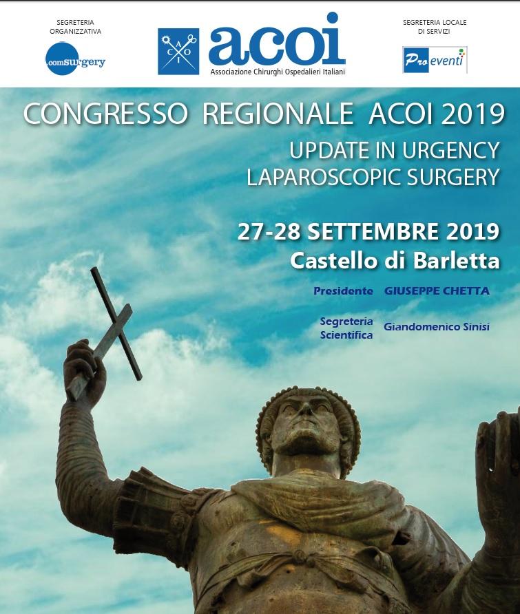CONGRESSO REGIONALE ACOI 2019. UPDATE IN URGENCY LAPAROSCOPIC SURGERY