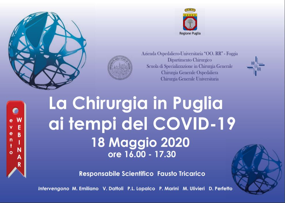 WEBINAR - La Chirurgia in Puglia ai tempi del COVID-19
