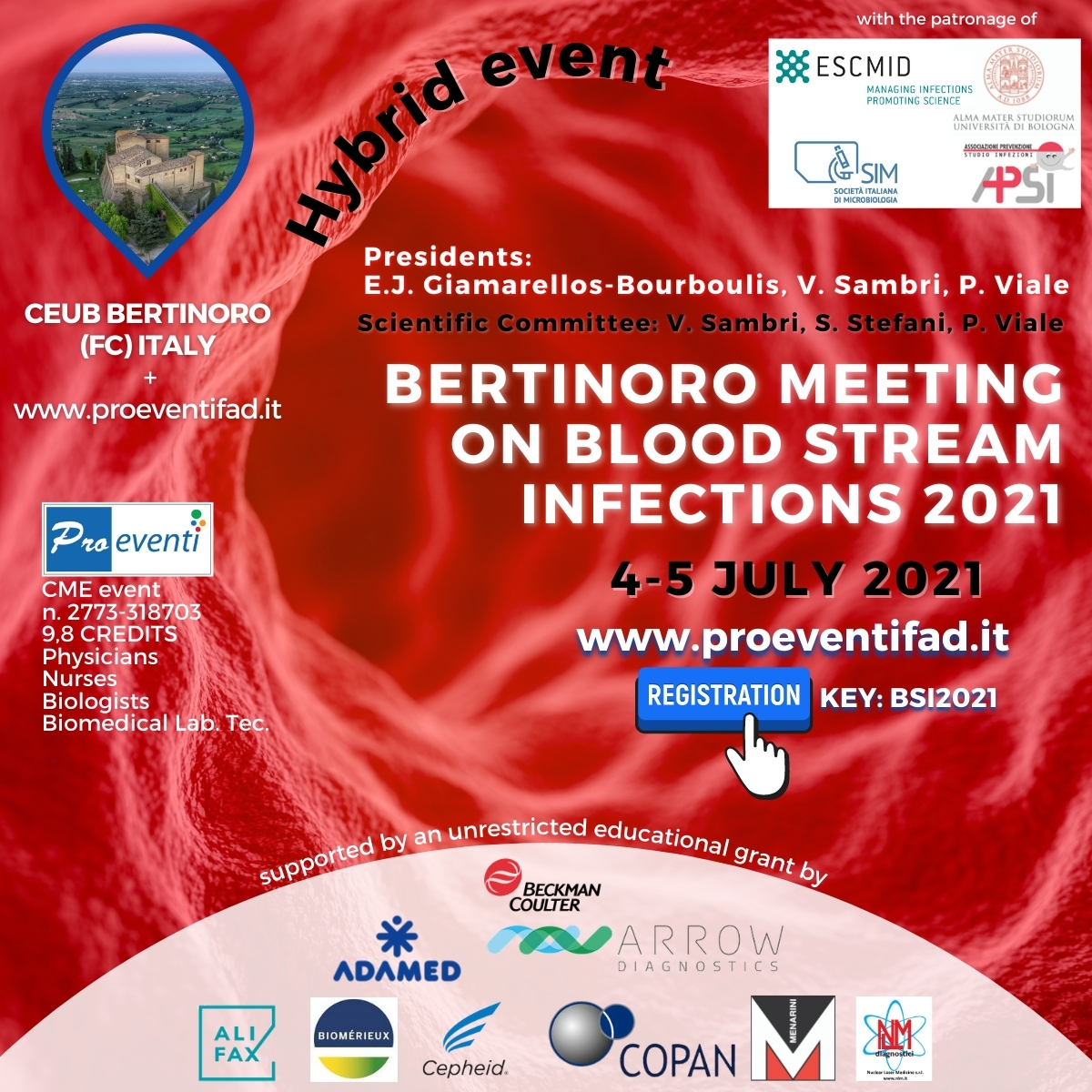 FAD+RES - BERTINORO MEETING ON BLOOD STREAM INFECTIONS 2021