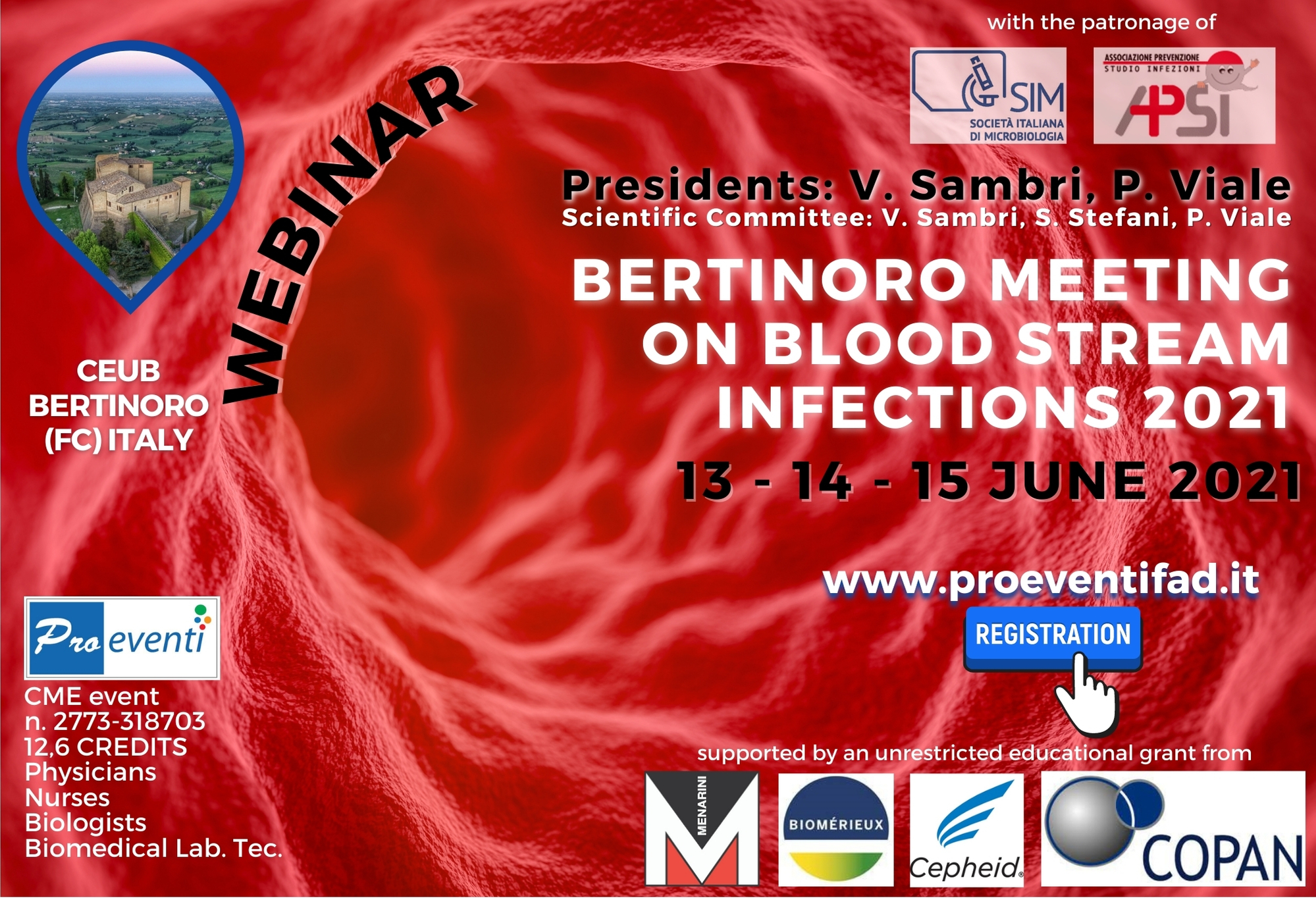 WEBINAR- BERTINORO MEETING ON BLOOD STREAM INFECTIONS 2021